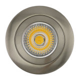 Die Cast GU10 MR16 G5.3 Rond Fixé en satin blanc satiné Nickel Downlight LED (LT1102)
