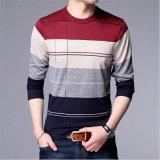 긴 소매 줄무늬 기본적인 남자 셔츠