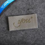 Escritura de la etiqueta tejida insignia de encargo de la ropa de la marca de fábrica de la manera de los hombres