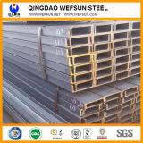 Viga de acero suave del acero U de Ss400 los 6m
