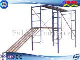 Andamio de acero galvanizado con tablas de caminar (SS-001)
