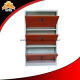 강철 금속 Foldable 3개의 층 단화 내각