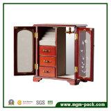 木の回転テーブルトップの時計屋ボックス