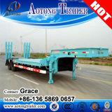 3개의 차축 낮은 침대 트레일러 Lowbed 반 트레일러, 30 톤에서 판매를 위한 낮은 로더 트럭 트레일러 60 톤