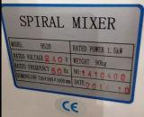 Máquina masa Espiral Mixer Mezclador pasta de la pizza de harina de masa Mezclador