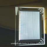 Рамка стола кристаллический акриловая рекламируя коробку СИД светлую