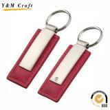 De leuke en Mooie Roze Sleutelringen van het Leer van de Kleur Pu voor KleinhandelsMarkt Ym1059
