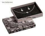 Caja de embalaje del regalo determinado de papel de tamaño mediano simple gris de la joyería de Jy-Jb156 Matt