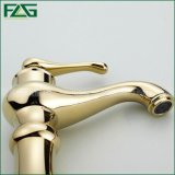 Flg Basin Washroom Faucet Gold Painting Soild Brass