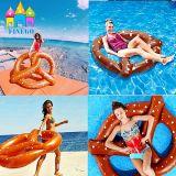 Nuovo galleggiante di galleggiamento gonfiabile degli anelli di nuoto del pane del cerchio dell'aria del PVC di Finego 2016