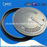 En124 couverture de trou d'homme ronde composite de la matière SMC/BMC fabriquée en Chine