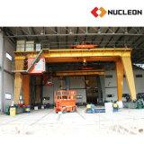Grúa doble de elevación al aire libre certificada Ce del torno del pórtico de la viga de la solución 30 toneladas