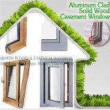 Безуходное совершенное деревянное окно Casement влияния, окно Casement Teak высокого качества деревянное одетое алюминиевое
