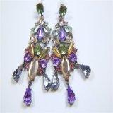 Colliers acryliques en verre de bracelets de boucles d'oreille de bijou de mode de pierres de résine colorée neuve de poste