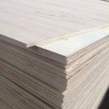 Madera de la madera contrachapada de la base del álamo para el uso del embalaje de la paleta (6X1220X2440m m)