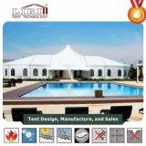 20mの党結婚式のための大きい最も高いピークの屋根のテントが付いている混合された構造のテント