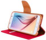 Роскошный случай Samsung iPhone 7 аргументы за телефона бумажника PU кожаный покрывает