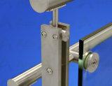 Naar maat gemaakt Balkon, Dek, de Balustrade van het Glas van de Portiek met Roestvrij staal om de Baluster van de Buis