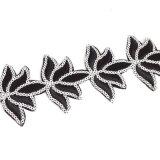 銀製カラースパンコール黒いワイヤー大きい花文のチョークバルブのネックレス