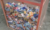 Solvant en plastique d'étiquette de bouteille d'animal familier