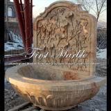 Fontaine de marbre Mf-793 de calcium d'antiquité de fontaine de granit de fontaine de pierre de fontaine