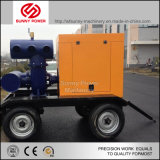 De diesel Pomp van het Water met Aanhangwagen voor het Vuile Schoonmaken van het Water