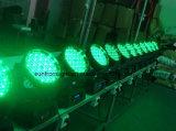 indicatore luminoso capo mobile della lavata della strumentazione LED del DJ della fase di 3W x di 108PCS