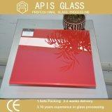 panneau décoratif en verre/laqué arrière de 3-12mm peint en verre Tempered