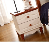 木のNightstandの白い寝室の家具(M-X1090)