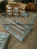 Faltender stapelbarer Stahlmaschendraht-Behälter
