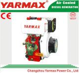 Yarmax手の開始空気によって冷却される単一シリンダー406cc 5.5/6.0kw 7.5/8.2HP海洋のディーゼル機関Ym186f