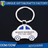 昇進のギフトの卸売車のブランドのKeychain亜鉛合金の金属のラベル