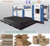 Máquina que corta con tintas de la fabricación de cajas acanalada del cartón y que arruga automática usada para el corte de papel