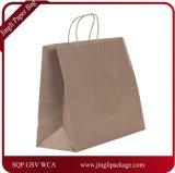 Хозяйственная сумка конструкции одежд хозяйственной сумки бумаги Brown Kraft подгонянная хозяйственной сумкой
