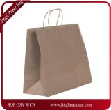Bolso de compras modificado para requisitos particulares del diseño del bolso de compras de la ropa del bolso de compras del papel de Brown Kraft