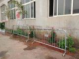 Frontière de sécurité en métal, barrières de police, barrières de circulation, barrières de contrôle de foule