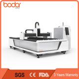 Folha do CNC e máquina de corte da fibra do metal 1530 500W, controle da máquina do laser da fibra para o metal