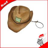 Sombrero de la promoción, sombrero de paja, sombrero de paja de la rafia, sombrero de paja del vaquero