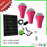 Système léger solaire portatif, lampe solaire de la haute énergie DEL d'ampoules de DEL