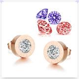 ステンレス鋼の宝石類の水晶宝石類の方法イヤリング(EE0085)