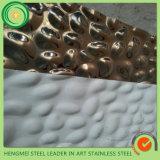 China-Lieferanten-Großverkauf 3D SUS 201 Blatt des Edelstahl-304 mit stempelndem Hammer 5wl für Hauptdekoratives