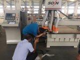 Router di CNC della macchina di falegnameria con il gruppo Drilling dell'Italia