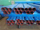 Tubulação de aço pintada vermelha média de luta contra o incêndio