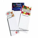 O bloco de notas magnético feito sob encomenda do caderno imprimiu para o refrigerador