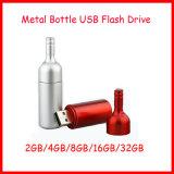 De waterdichte Aandrijving van de Flits van de Vorm USB van de Fles van de Stok van het Geheugen van het Metaal USB
