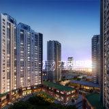 高リゾリューションの住宅デザイン3D建築視覚化のレンダリング
