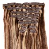直毛の拡張完全なヘッド毛の拡張ブラウンのブラジルのバージンのヘアークリップの2016最上質クリップは出荷を解放する