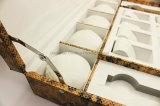 Caso portable del almacenaje del reloj del cuero de la PU del modelo de la serpiente de la capacidad grande