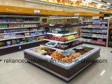 Refrigerador do indicador da coroa do supermercado