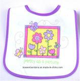 Kundenspezifischer Auslegung-Zeichen gedruckter Baumwollkarikatur-weißer Babybandana-Schellfisch